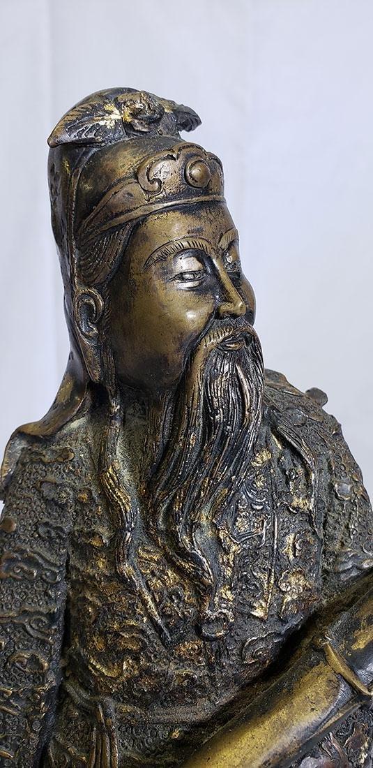 20th Century Chinese bronze figure - 3