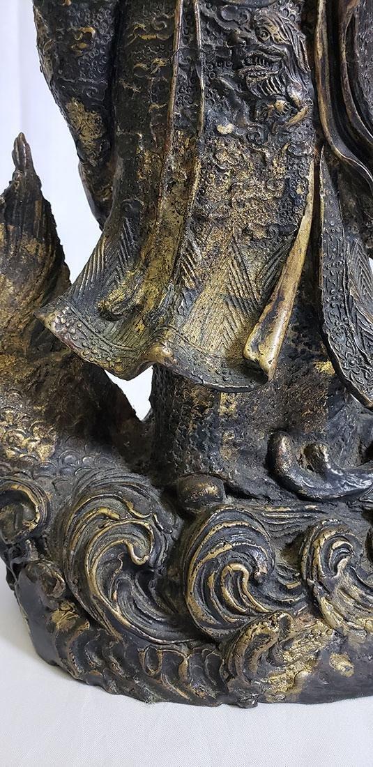 20th Century Chinese bronze figure - 5