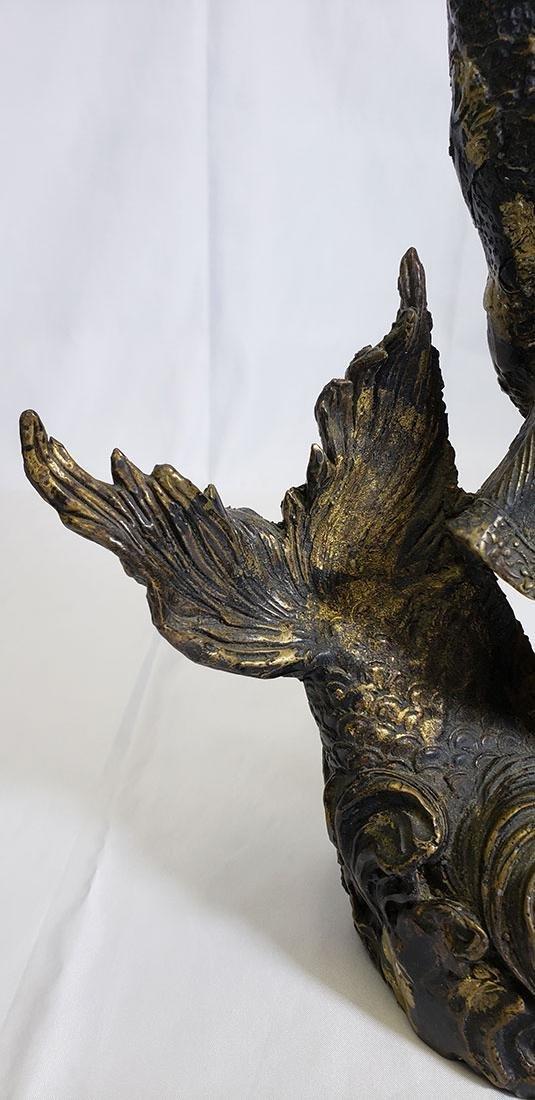 20th Century Chinese bronze figure - 6