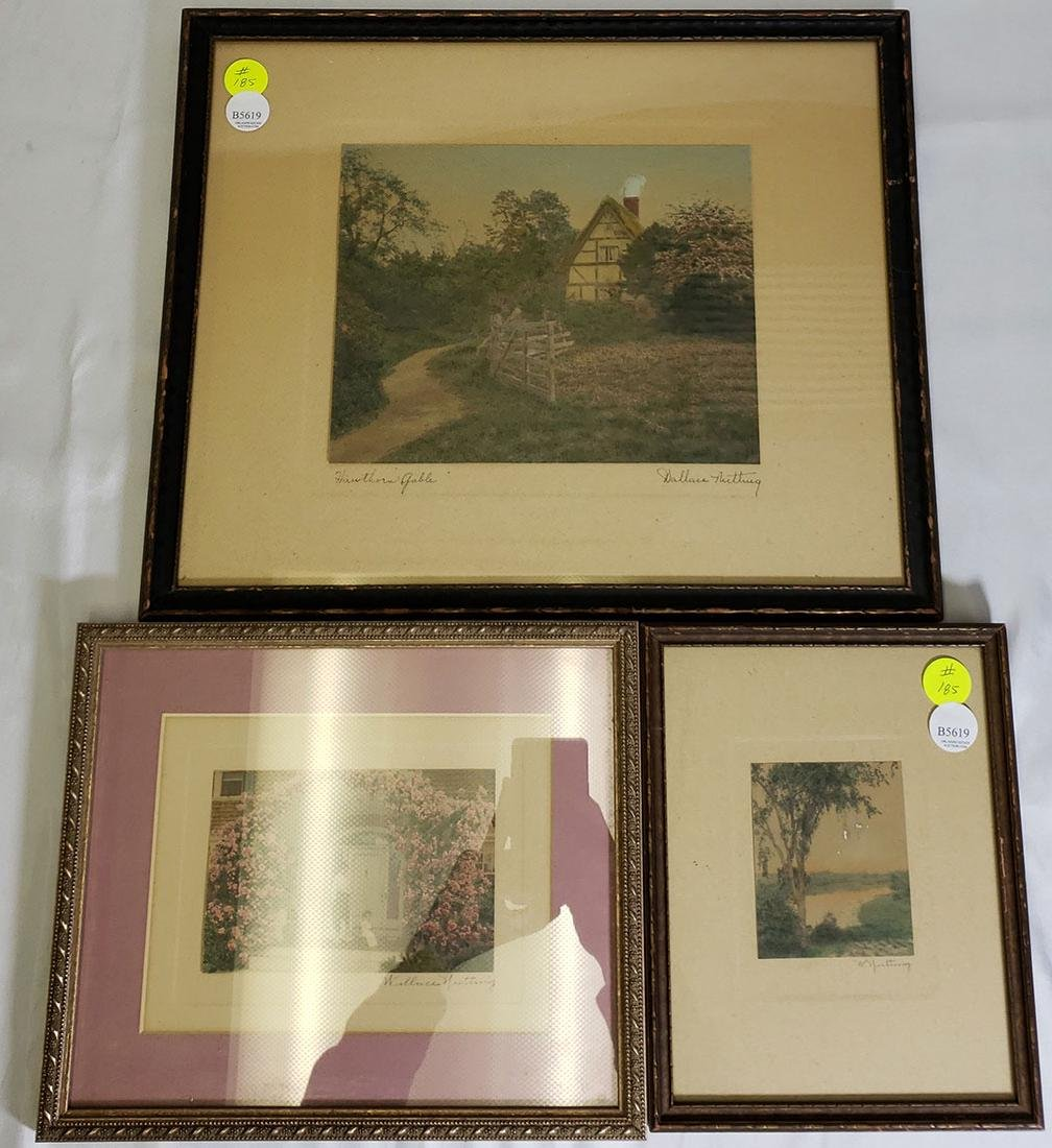Three Wallace Nutting signed Prints