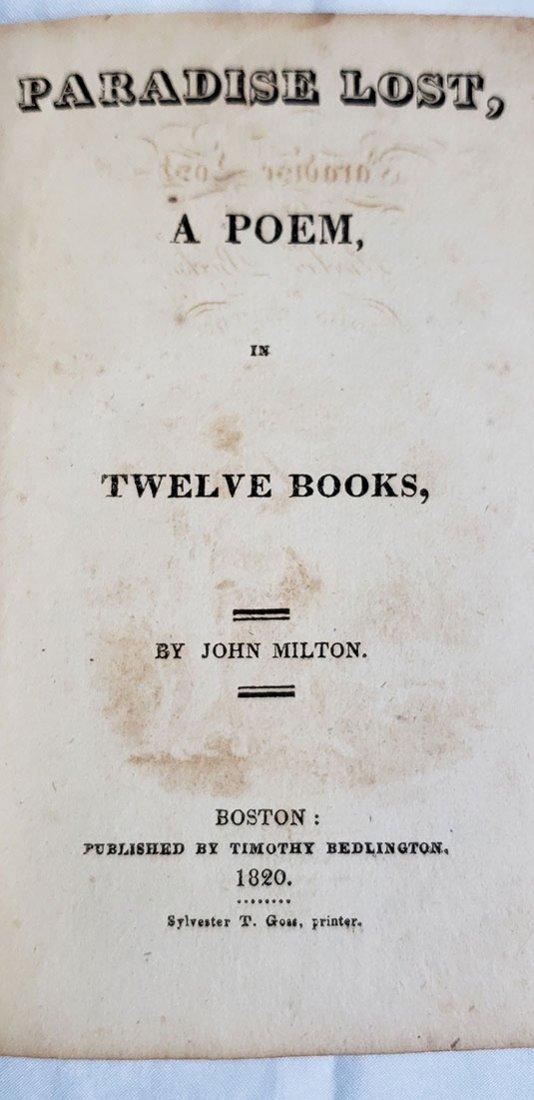 5 Antique Books-The Bracelets-Paradise Lost 1820-1858 - 10