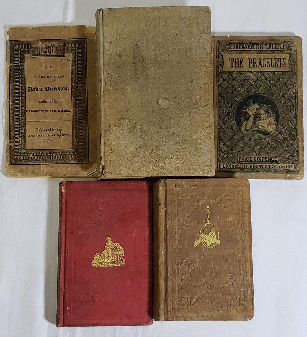5 Antique Books-The Bracelets-Paradise Lost 1820-1858