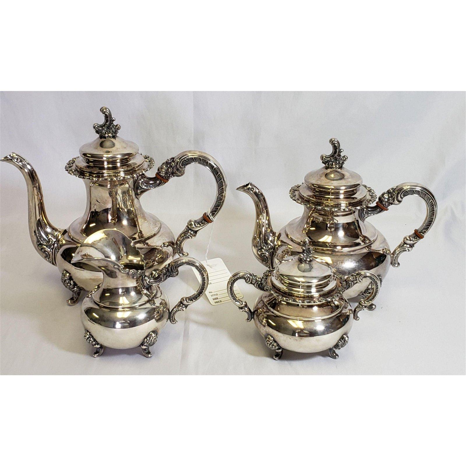 4 Piece Sterling Silver Tea Set 56.3 Troy Oz.