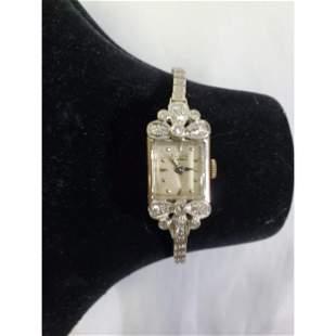 Ellis Platinum, 14K and Diamond Ladies Watch 7 Jewels
