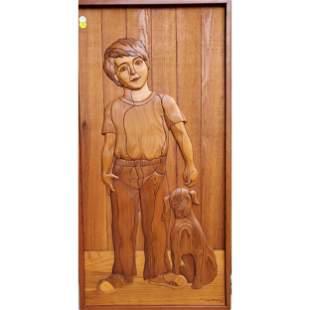 Judy Gale Roberts Intarsia Wood Inlaid Art 1985