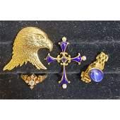 Estate Jewelry K Gold Diamond Ring Sapphire