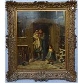 Large 19th Century European Oil on Canvas Painting