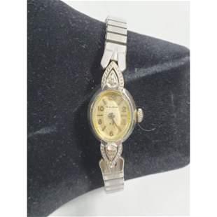 Ladies Bulova Watch 14K White Gold