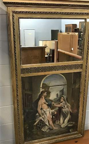 OC Christ Appearing to Mary painting Trumeau Mirror
