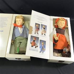 2 Large Hummel Dolls Birthday On Holiday