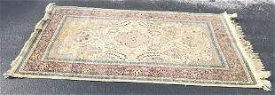 Handmade Wool Rug Double Weft Oriental 61 x 96
