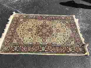 Handmade Wool Rug Oriental 70 by 50