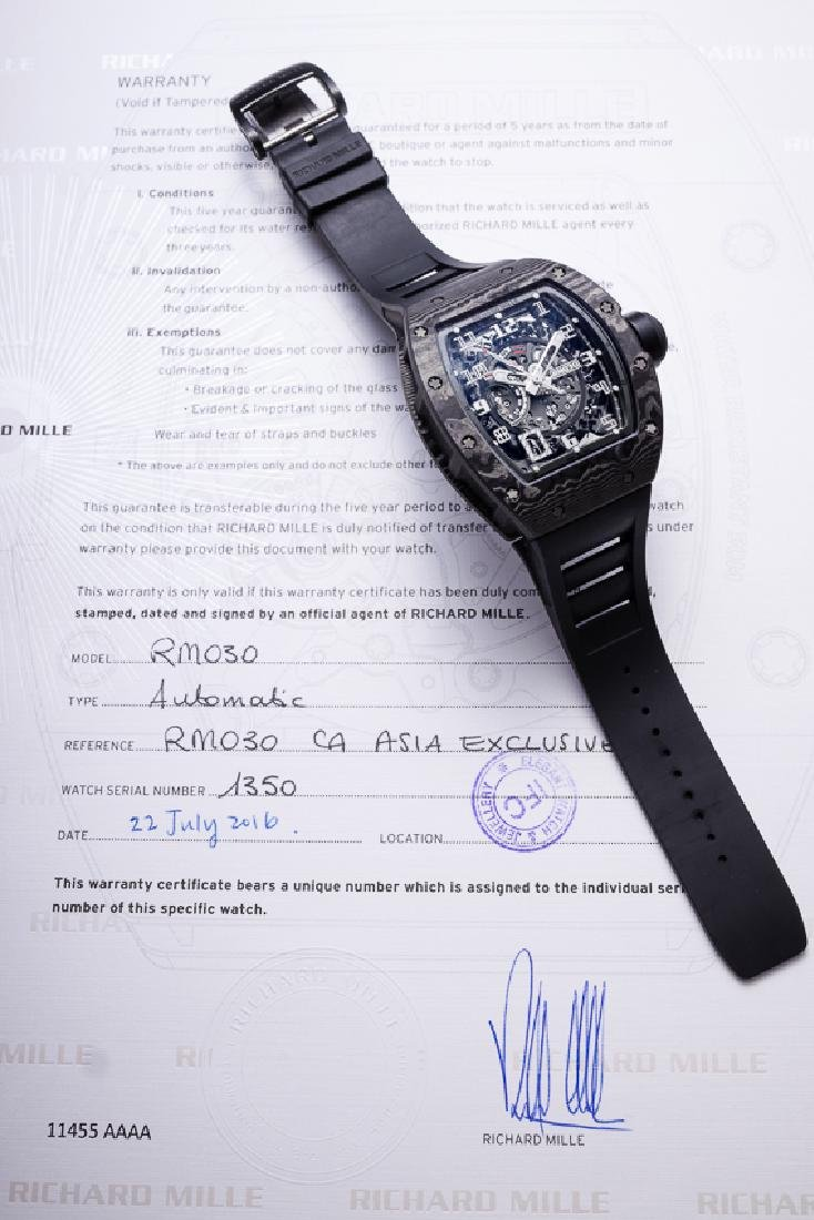 RICHARD MILLE NORTH THIN PLYTECH ASIA EXCLUSIVE RM 030 - 8