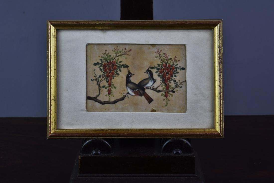CHINESE EXPORT QING PITH PAPER PAINTING CIRCA 1820