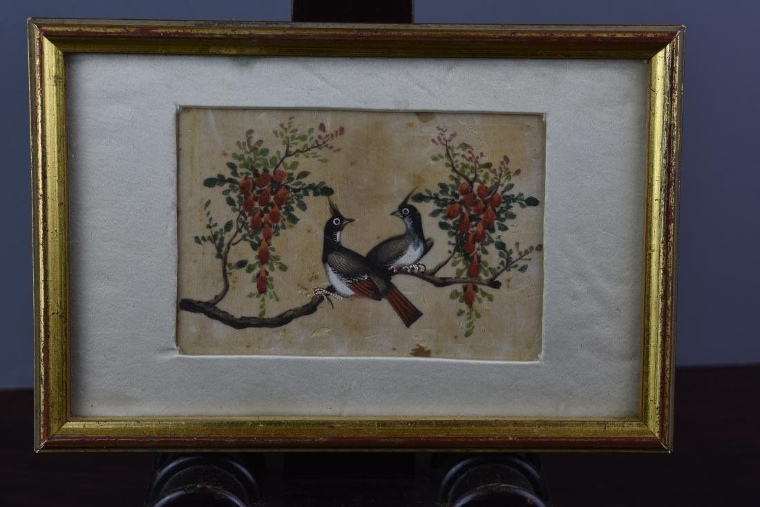 CHINESE EXPORT QING PITH PAPER PAINTING CIRCA 1820 - 3