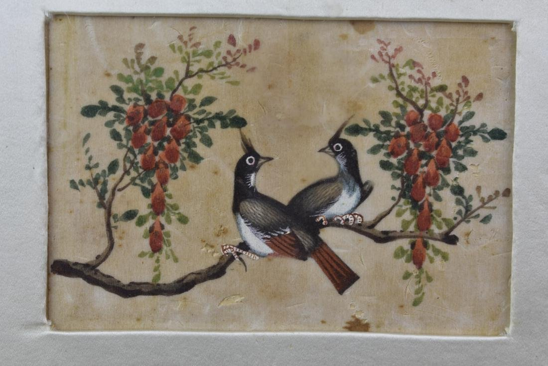 CHINESE EXPORT QING PITH PAPER PAINTING CIRCA 1820 - 5