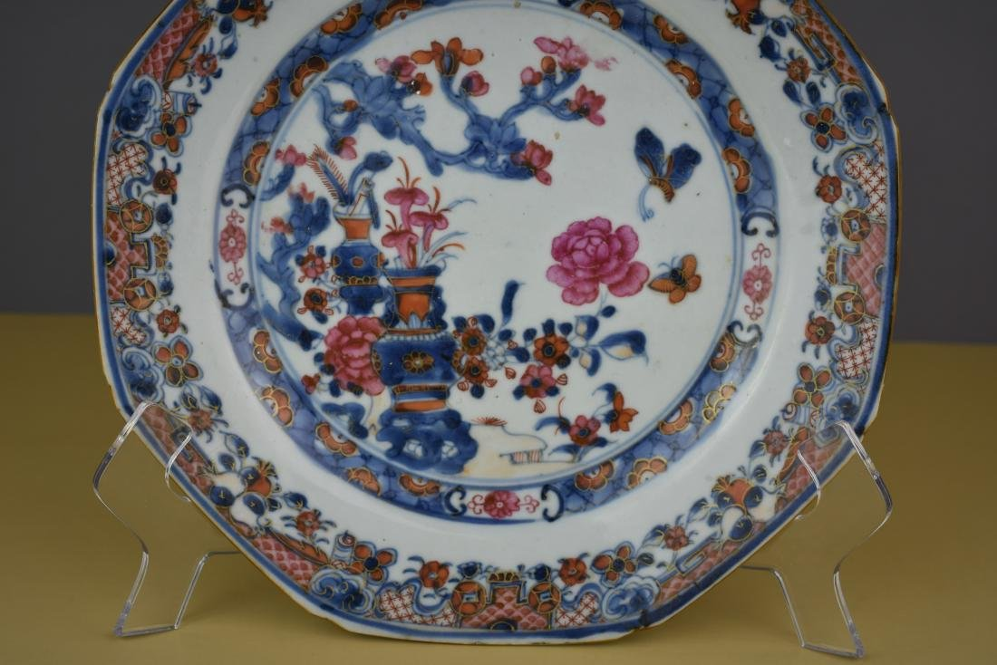 CHINESE EXPORT QING DYNASTY PLATE - 3