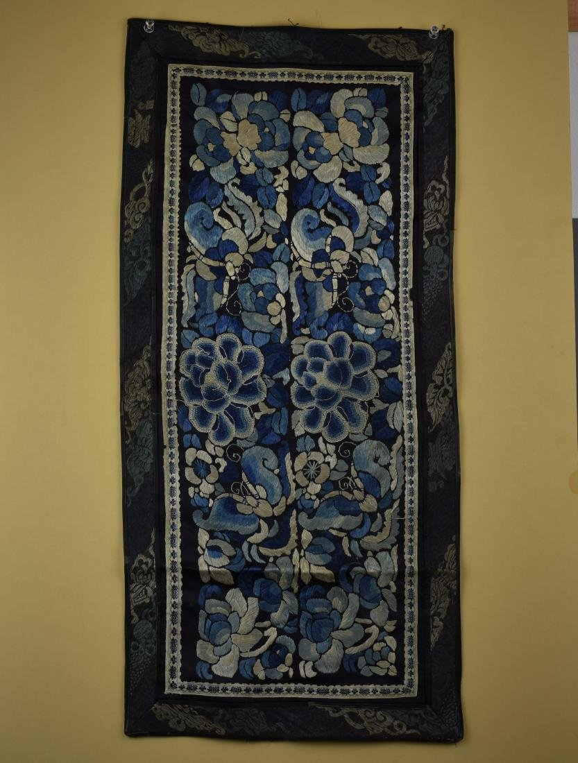 CHINESE QING DYNASTY FORBIDDEN STITCH TEXTILE