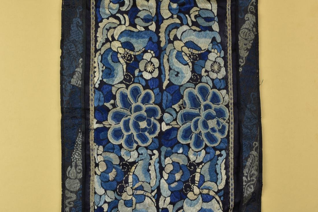 CHINESE QING DYNASTY FORBIDDEN STITCH TEXTILE - 3