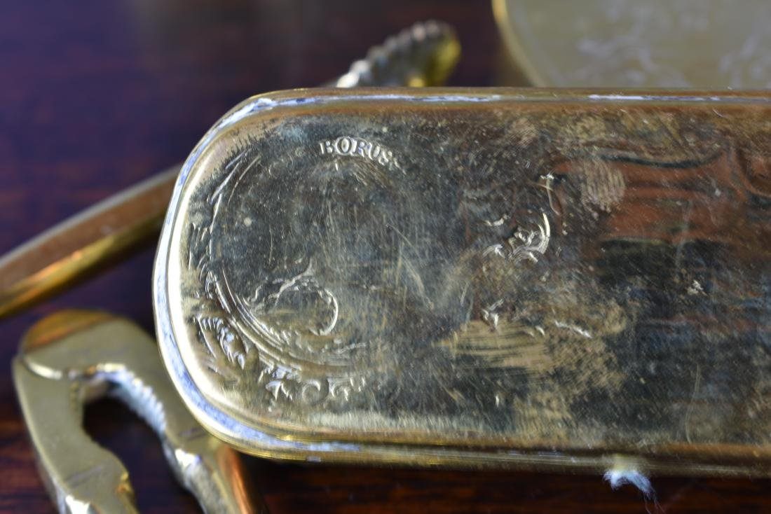 DUTCH 17TH C. BRASS TOBACCO BOX AND OTHERS - 5