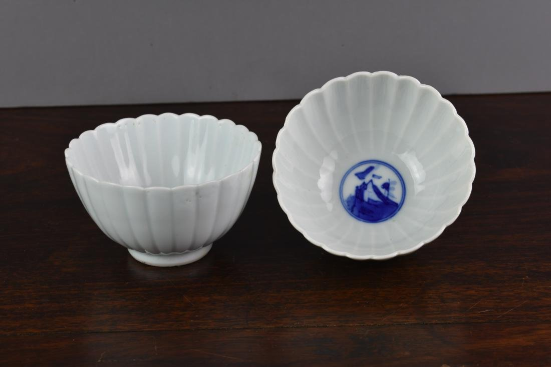 CHINESE LATE QING DYNASTY LOTUS SHAPED BOWLS