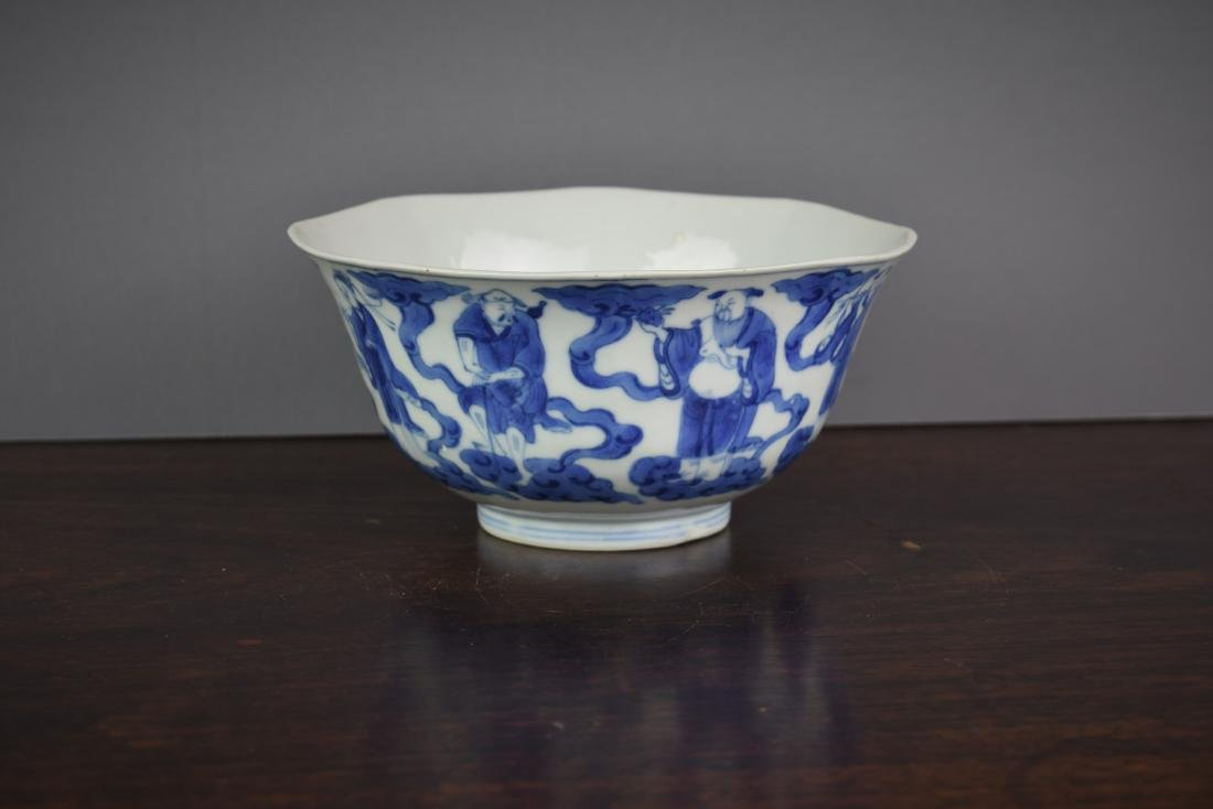 Chinese Kangxi Period (1661-1722) B/W Klapmuts Bowl