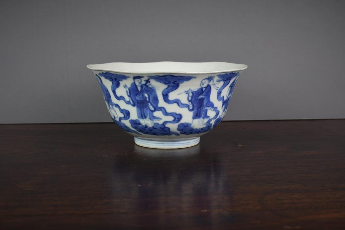 Chinese Kangxi Period (1661-1722) B/W Klapmuts Bowl - 2