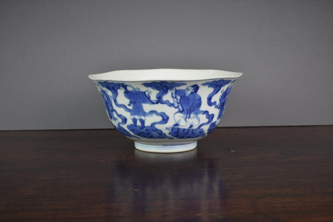 Chinese Kangxi Period (1661-1722) B/W Klapmuts Bowl - 3