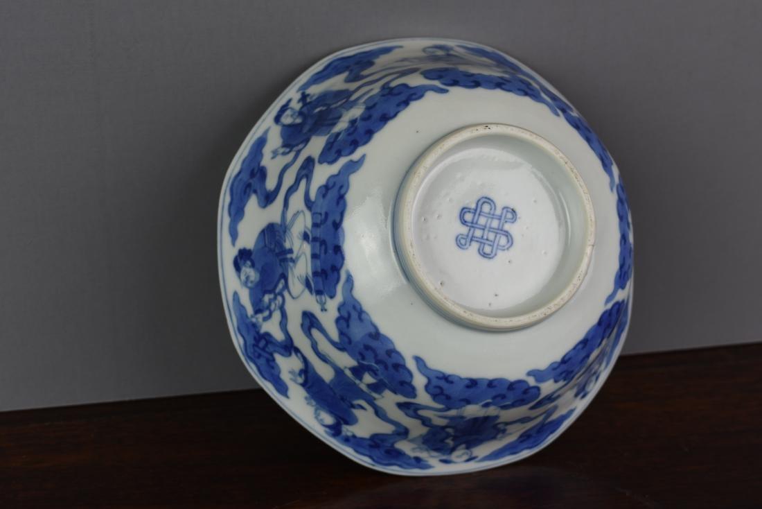 Chinese Kangxi Period (1661-1722) B/W Klapmuts Bowl - 7