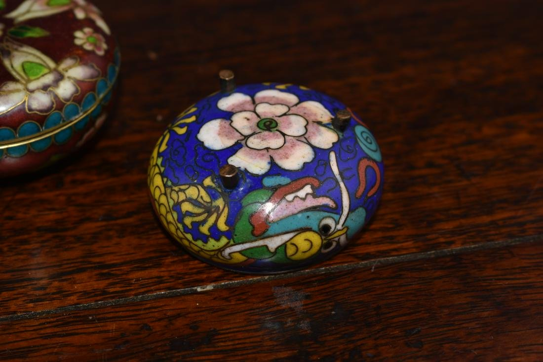 Chinese and Japanese Cloisonne Box and Bowl - 2