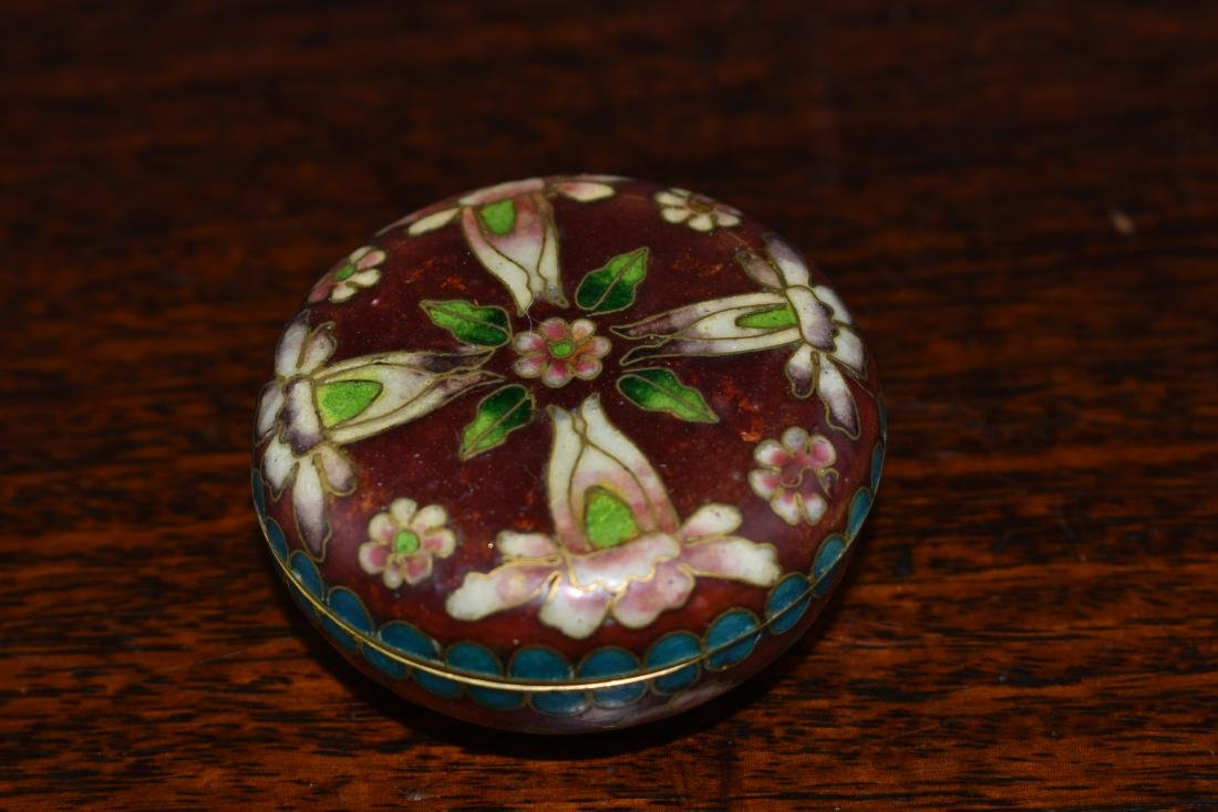 Chinese and Japanese Cloisonne Box and Bowl - 3