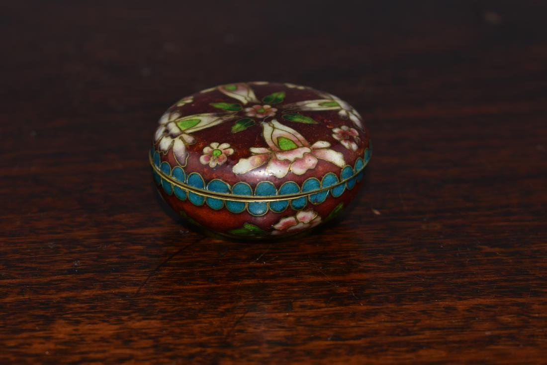 Chinese and Japanese Cloisonne Box and Bowl - 4