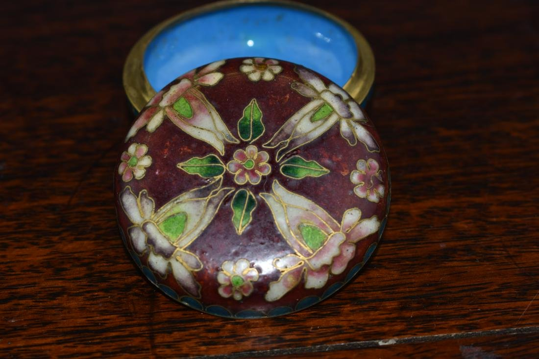 Chinese and Japanese Cloisonne Box and Bowl - 5