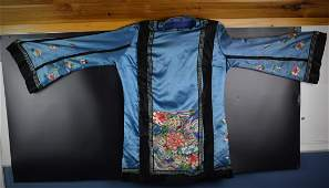 Chinese Qing Dynasty Embroidered Summer Robe