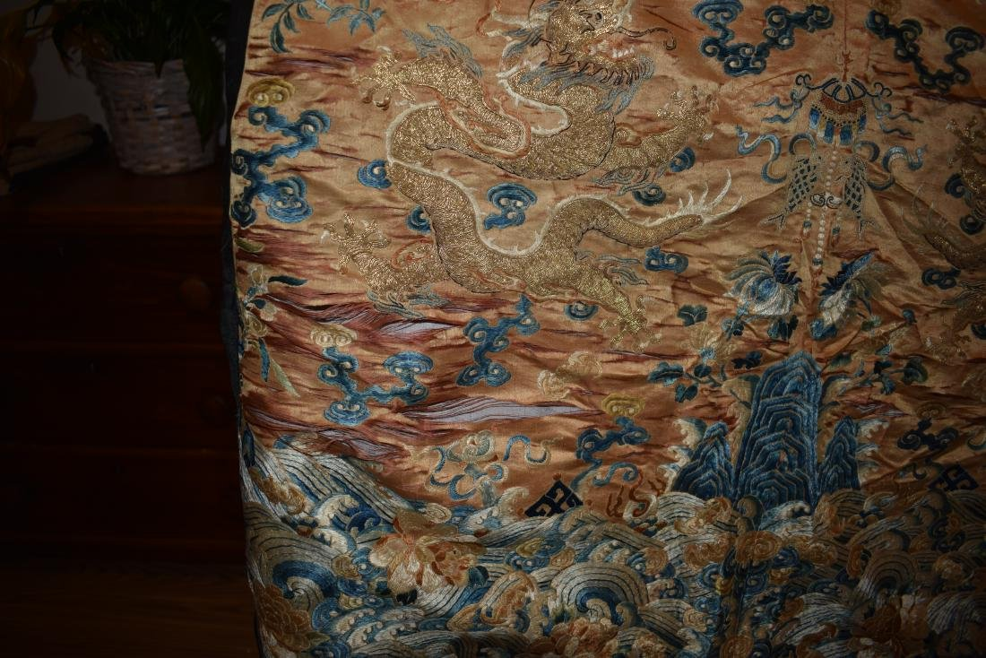 IMPORTANT CHINESE 18TH C. IMPERIAL DRAGON TEXTILE - 10