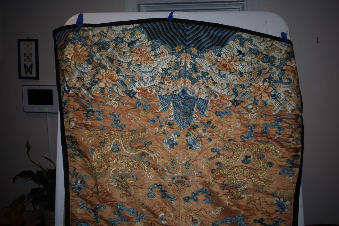 IMPORTANT CHINESE 18TH C. IMPERIAL DRAGON TEXTILE - 3