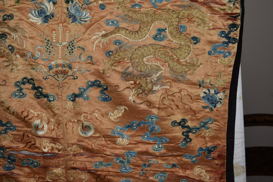 IMPORTANT CHINESE 18TH C. IMPERIAL DRAGON TEXTILE - 5