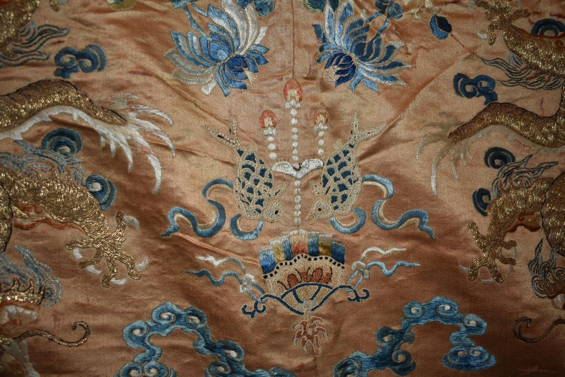 IMPORTANT CHINESE 18TH C. IMPERIAL DRAGON TEXTILE - 9