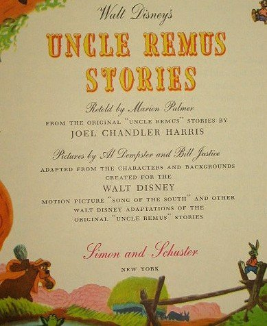 3: Disney 1947 Uncle Remus Stories Giant Golden Book - 2