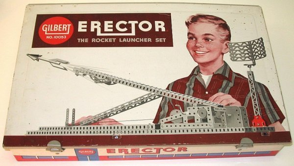 10: Late 1950s Gilbert Erector Set ~Rocket Launcher