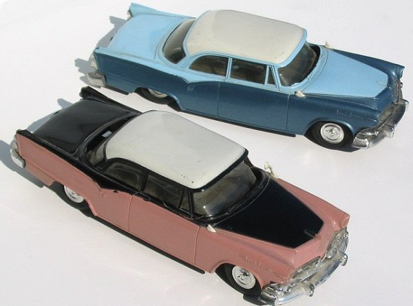 11: Two AMT 1955 Dodge Royal Lancer V-8 Promo Cars