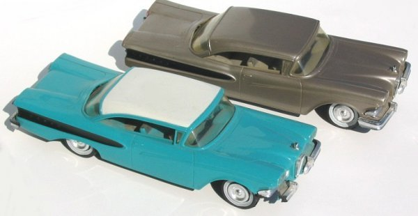 13: Two 1958 Edsel Friction Promo Cars