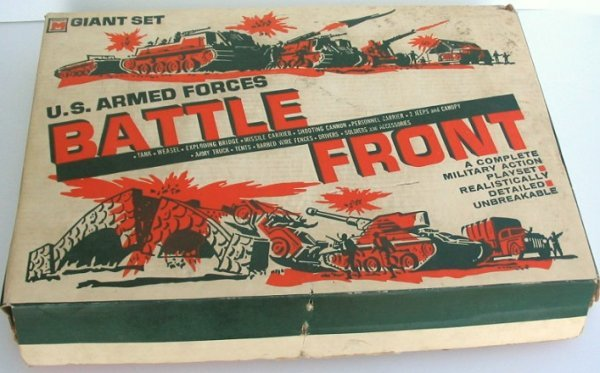 14: 1960s Vintage US Armed Forces BATTLE FRONT Toy