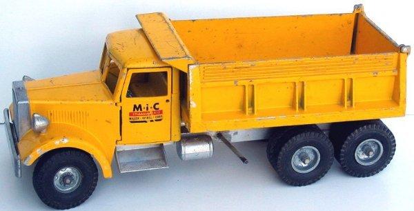 17: Rare M.I.C. Smith Miller Yellow Dump Truck