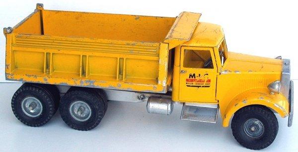 17: Rare M.I.C. Smith Miller Yellow Dump Truck - 2