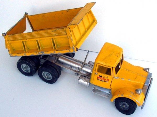 17: Rare M.I.C. Smith Miller Yellow Dump Truck - 3