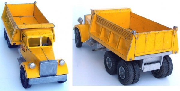 17: Rare M.I.C. Smith Miller Yellow Dump Truck - 4