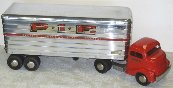 18: 1950s Smith Miller P.I.E. Semi Truck wTrailer PIE