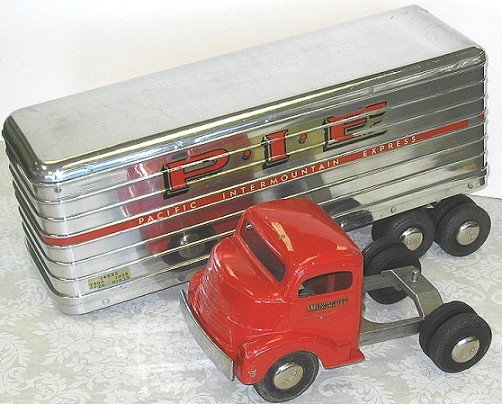 18: 1950s Smith Miller P.I.E. Semi Truck wTrailer PIE - 2