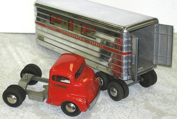 18: 1950s Smith Miller P.I.E. Semi Truck wTrailer PIE - 3